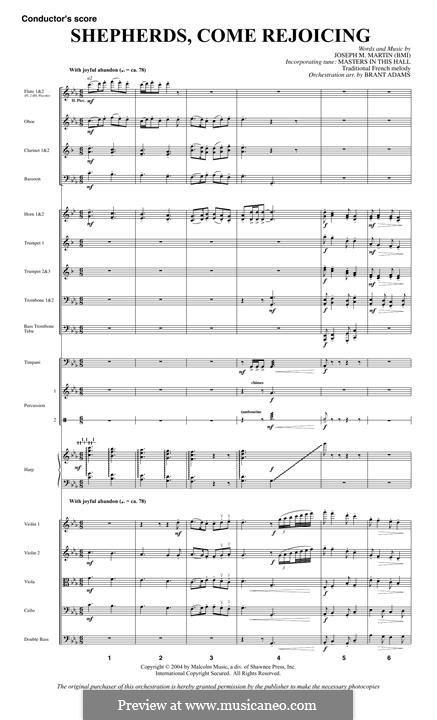Shepherds, Come Rejoicing (from Voices of Christmas): partitura by Joseph M. Martin