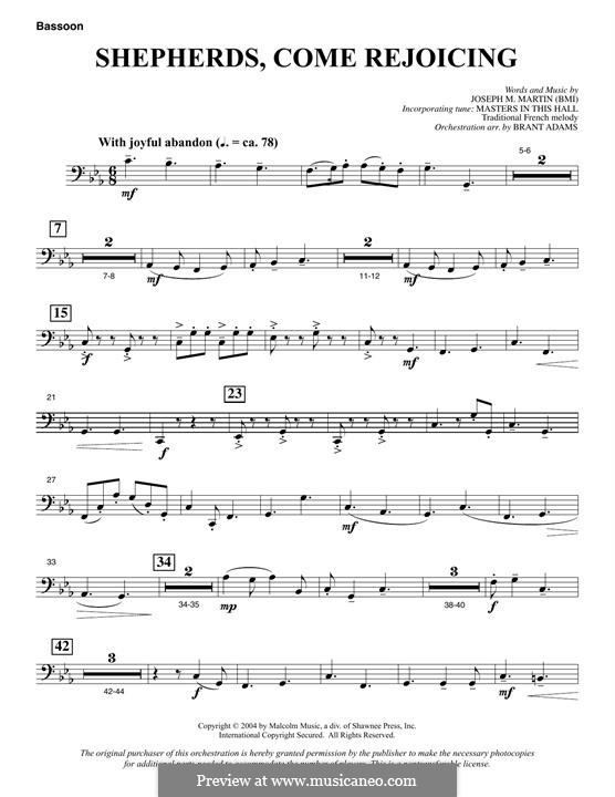 Shepherds, Come Rejoicing (from Voices of Christmas): parte fagote by Joseph M. Martin