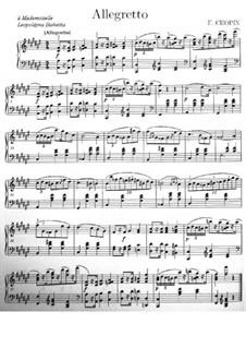Allegretto in F Sharp Major: Allegretto in F Sharp Major by Frédéric Chopin