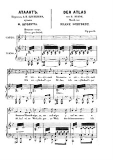 No.8 Der Atlas (Atlas): Partitura Piano-vocal by Franz Schubert