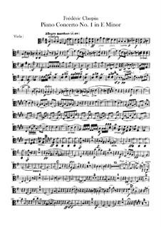 Complete Concerto: parte viola by Frédéric Chopin