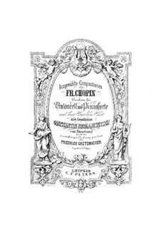 Nocturnes, Op.15: No.2, para violoncelo e piano by Frédéric Chopin