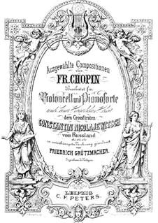 Nocturnes, Op.32: No.1, para violoncelo e piano by Frédéric Chopin