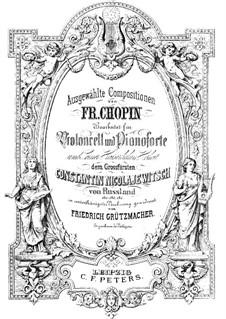 Mazurkas, Op.33: No.2, para violoncelo e piano by Frédéric Chopin