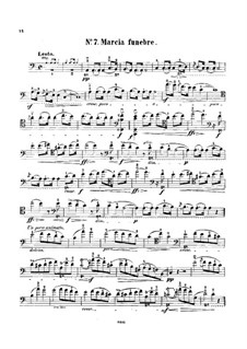 Sonata for Piano No.2 in B Flat Minor, Op.35: Movement III, for cello and piano – solo part by Frédéric Chopin