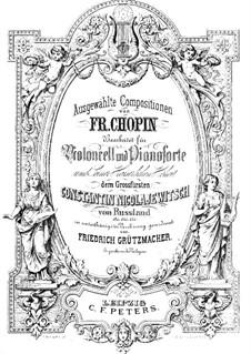 No.2 in C Sharp Minor: para Violoncelo e piano by Frédéric Chopin