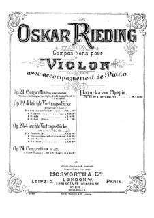 Mazurkas, Op. posth.67: No.3, for violin and piano by Frédéric Chopin