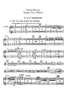 Set III, No.2 Iberia, L.122: parte trompetas by Claude Debussy