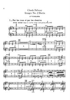 Set III, No.2 Iberia, L.122: violinos parte I by Claude Debussy