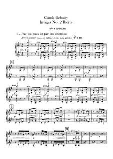 Set III, No.2 Iberia, L.122: violinos parte II by Claude Debussy