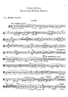 Two Dances for Harp and String Quintet, L.103: parte violas by Claude Debussy