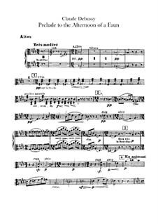 Prélude à l'après-midi d'un faune (Prelude to the Afternoon of a Faun), L.86: parte violas by Claude Debussy