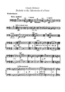 Prélude à l'après-midi d'un faune (Prelude to the Afternoon of a Faun), L.86: Parte contrabaixo by Claude Debussy
