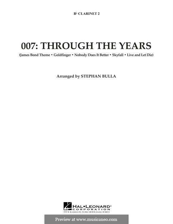 007: Through The Years: Bb Clarinet 2 part by Monty Norman