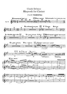 Rhapsody No.1 in G Flat Major, L.116: parte trompeta by Claude Debussy