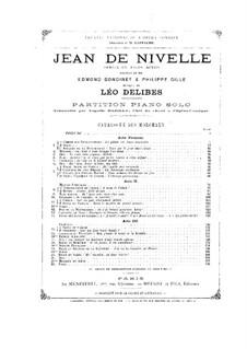 Jean de Nivelle: partitura para piano by Léo Delibes