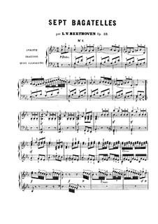 Bagatelles, Op.33: Bagatelle No.1 by Ludwig van Beethoven