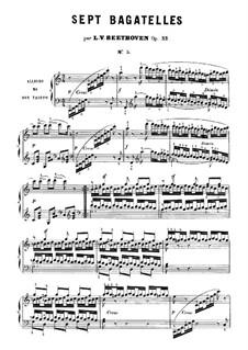 Bagatelles, Op.33: Bagatelle  No.5 by Ludwig van Beethoven