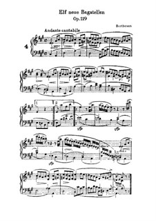 Eleven New Bagatelles for Piano, Op.119: Bagatelle No.4 by Ludwig van Beethoven