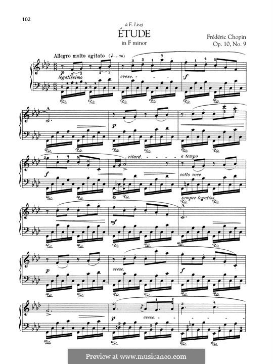 No.9 in F Minor: Para Piano by Frédéric Chopin