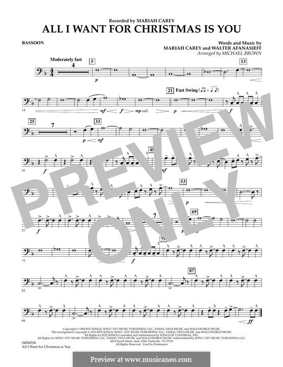 Concert Band version: parte fagote by Mariah Carey, Walter Afanasieff