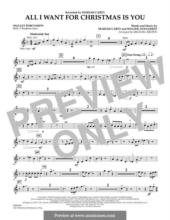 Concert Band version: Mallet Percussion part by Mariah Carey, Walter Afanasieff