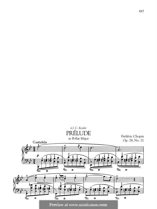 No.21 in B Flat Major: Para Piano by Frédéric Chopin