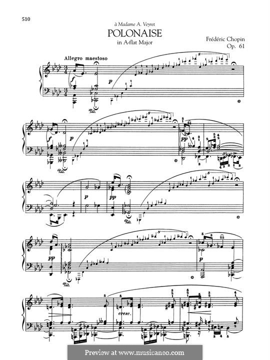 Polonaise-Fantasia in A Flat Major, Op.61: Para Piano by Frédéric Chopin