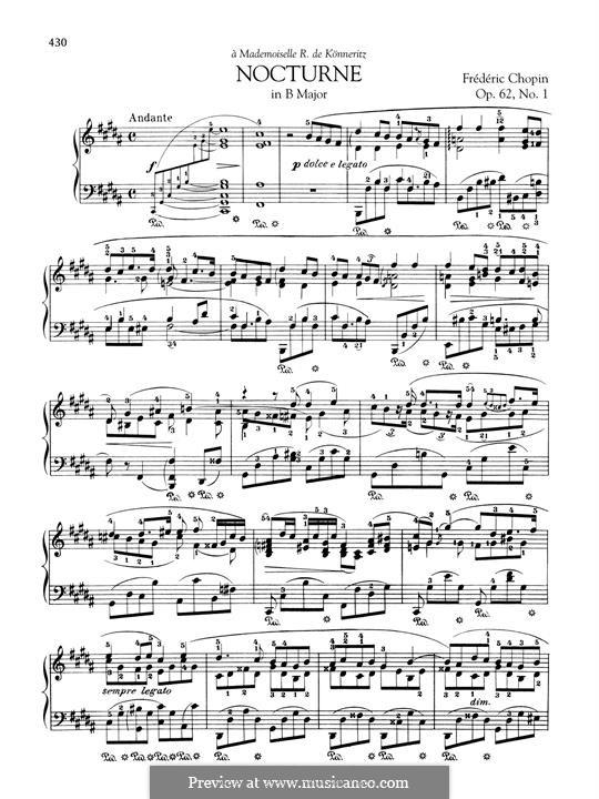 Nocturnes, Op.62: No 1 em B maior by Frédéric Chopin