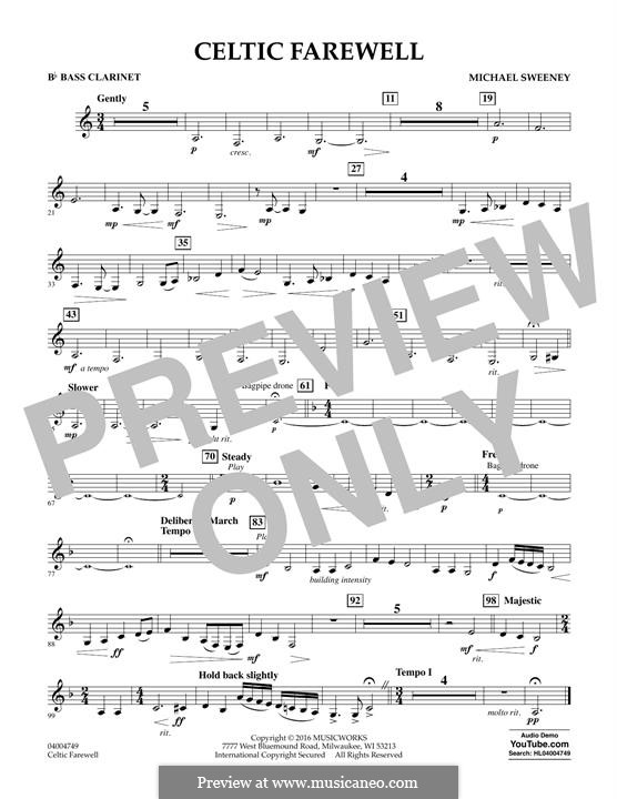 Celtic Farewell: Bb Bass Clarinet part by Michael Sweeney