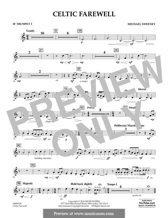 Celtic Farewell: Bb Trumpet 2 part by Michael Sweeney