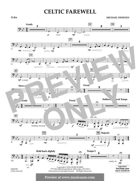 Celtic Farewell: Tuba, partes by Michael Sweeney