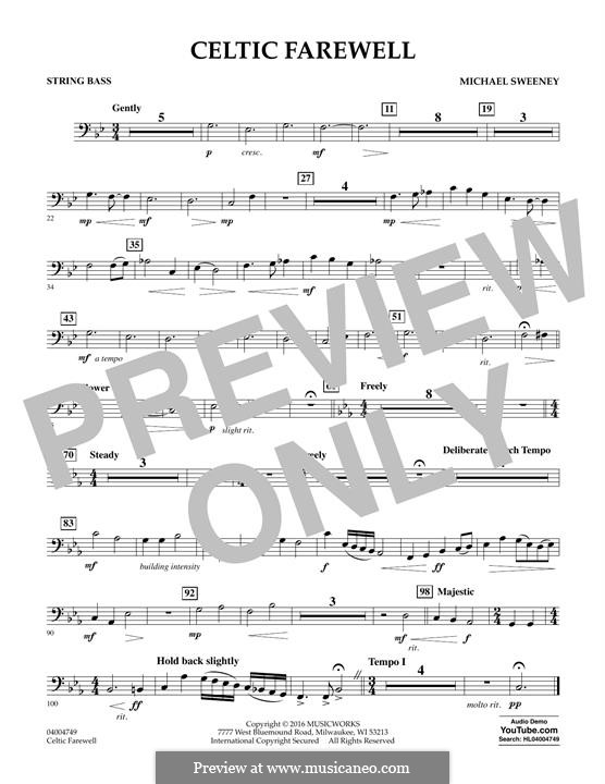 Celtic Farewell: String Bass part by Michael Sweeney