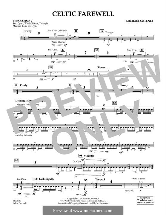 Celtic Farewell: Percussion 2 part by Michael Sweeney