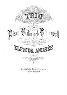 Piano Trio No.2 in G Minor: partitura completa by Elfrida Andrée