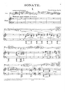 Sonata for Cello and Piano, Op.24: Score by Conrad Ansorge