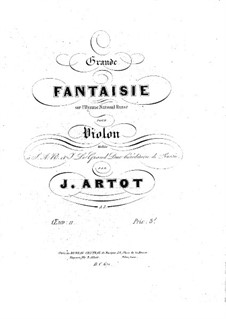 Grand Fantasia on the Russian National Anthem, Op.11: Score by Alexandre Joseph Artôt
