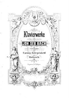 Six Partitas, BWV 825-830: Para Piano by Johann Sebastian Bach