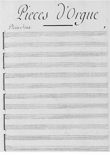 Pieces for Organ: peças para orgão by Claude-Bénigne Balbastre