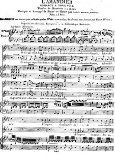 L'Amandier. Romance for Two Voices and Piano (or Harp): L'Amandier. Romance for Two Voices and Piano (or Harp) by Luigi Balocchi