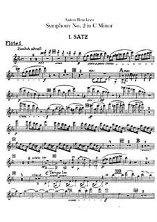 Symphony No.2 in C Minor, WAB 102: parte de flautas by Anton Bruckner