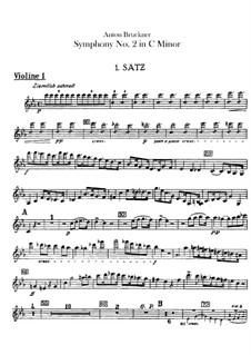 Symphony No.2 in C Minor, WAB 102: violino parte I by Anton Bruckner