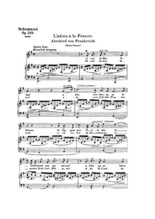 Poems of Queen Mary Stuart, Op.135: Partitura piano-vocal by Robert Schumann