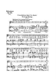 Four Songs, Op.142: Partitura piano-vocal by Robert Schumann