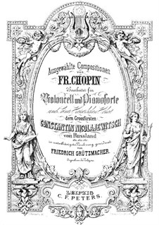 Mazurkas, Op.7: No.1, para violoncelo e piano by Frédéric Chopin