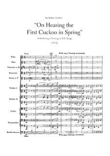 On Hearing the First Cuckoo in Spring: partitura completa by Frederick Delius