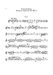 Summer Night on the River: parte flauta by Frederick Delius