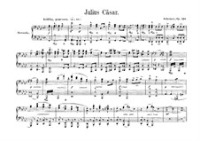 Julius Caesar, Op.128: Overture, para piano para quatro mãos by Robert Schumann