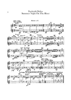 Summer Night on the River: parte trompa by Frederick Delius