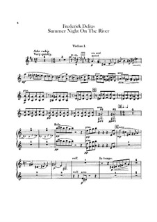 Summer Night on the River: parte violinos by Frederick Delius